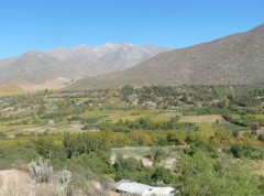 Mountains often play a key role for water supply in dry regions (here: Limari Basin in Chile)