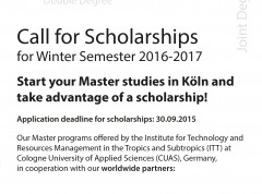 Call for scholarships.indd